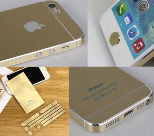 The Stickers Gold for IPhone 5 Cause Furor